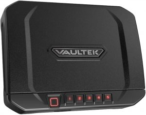VT20i Biometric Handgun Bluetooth Smart Safe Pistol Safe with Auto-Open Lid and Rechargeable Battery
