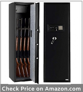 Bonnlo Electronic Gun Safe Large Firearm Rifle Storage